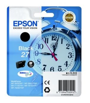 Epson 27 Black Ink Cartridge - (T2701 Alarm Clock)