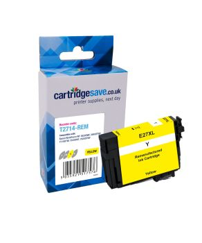 Compatible Epson 27XL High Capacity Yellow Ink Cartridge - (T2714 Alarm Clock)