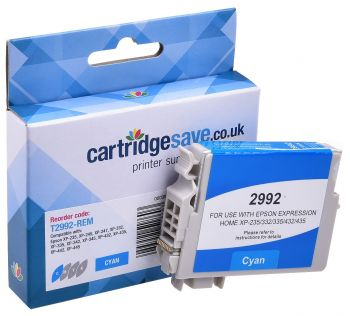 Compatible Epson 29XL Cyan High Capacity Ink Cartridge - (T2992 Strawberry)
