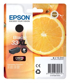 Epson 33XL Black High Capacity Ink Cartridge - (T3351 Oranges)