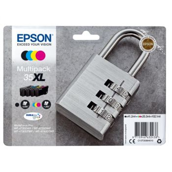 Epson 35XL High Capacity 4 Colour Ink Cartridge Multipack (T3596 Padlock)
