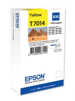 Epson T7014 XXL Extra High Capacity Yellow Ink Cartridge - (C13T70144010 Pyramids)