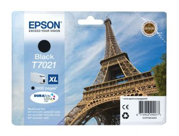 Epson T7021 XL High Capacity Black Ink Cartridge - (Eiffel Tower)