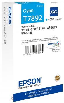 Epson T7892 XXL Extra High Capacity Cyan Ink Cartridge - (C13T789240)