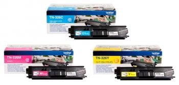 Brother TN-326 High Capacity 3 ColourToner Cartridge Multipack (TN-326C/M/Y)