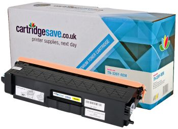 Compatible Brother TN-326Y High Capacity Yellow Toner Cartridge