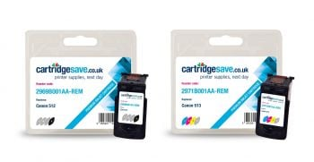 Compatible Canon PG-512 / CL-513 High Capacity Black & Tri-Colour Ink Cartridge Multipack