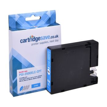 Compatible Canon PGI-2500XLC High Capacity Cyan Ink Cartridge - (9265B001AA)