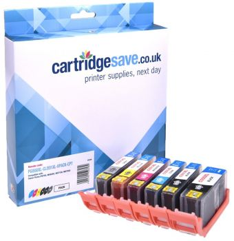 Compatible Canon PGI-550XL & CLI-551XL High Capacity 2 Black & 4 Colour Ink Cartridge Multipack