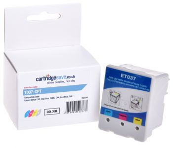 Compatible Epson T037 Tri-Colour Printer Cartridge - (C13T037040 Beach Huts)
