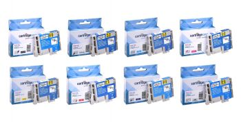 Compatible Epson T054 8 Colour Ink Cartridge Multipack - (Frog)