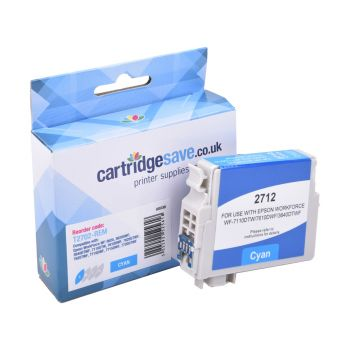 Compatible Epson 27 Cyan Ink Cartridge - (T2702 Alarm Clock)