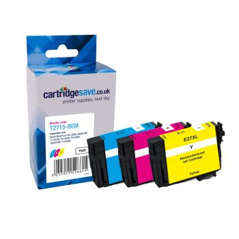 Compatible Epson 27XL High Capacity 3 Colour Ink Cartridge Multipack - (T2715 Alarm Clock)