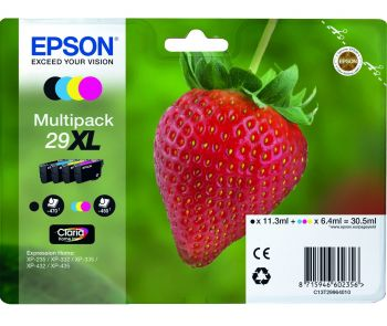 Epson 29XL 4 Colour High Capacity Ink Cartridge Multipack (Strawberry)