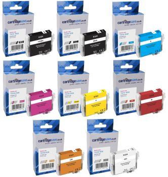 Compatible Epson T324 8 Colour Ink Cartridge Multipack - (Puffin)