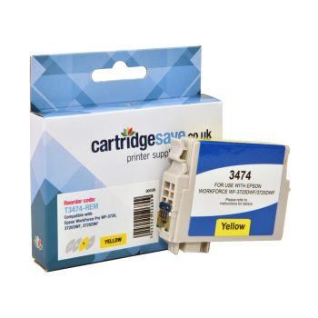 Compatible Epson 34XL High Capacity Yellow Ink Cartridge - (T3474 Golf Ball)