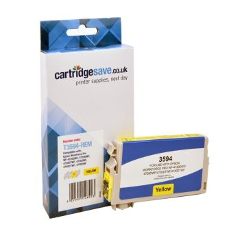 Compatible Epson 35XL Yellow High Capacity Ink Cartridge - (T3594)