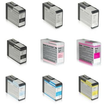 Epson T580 9 Colour Ink Cartridge Multipack