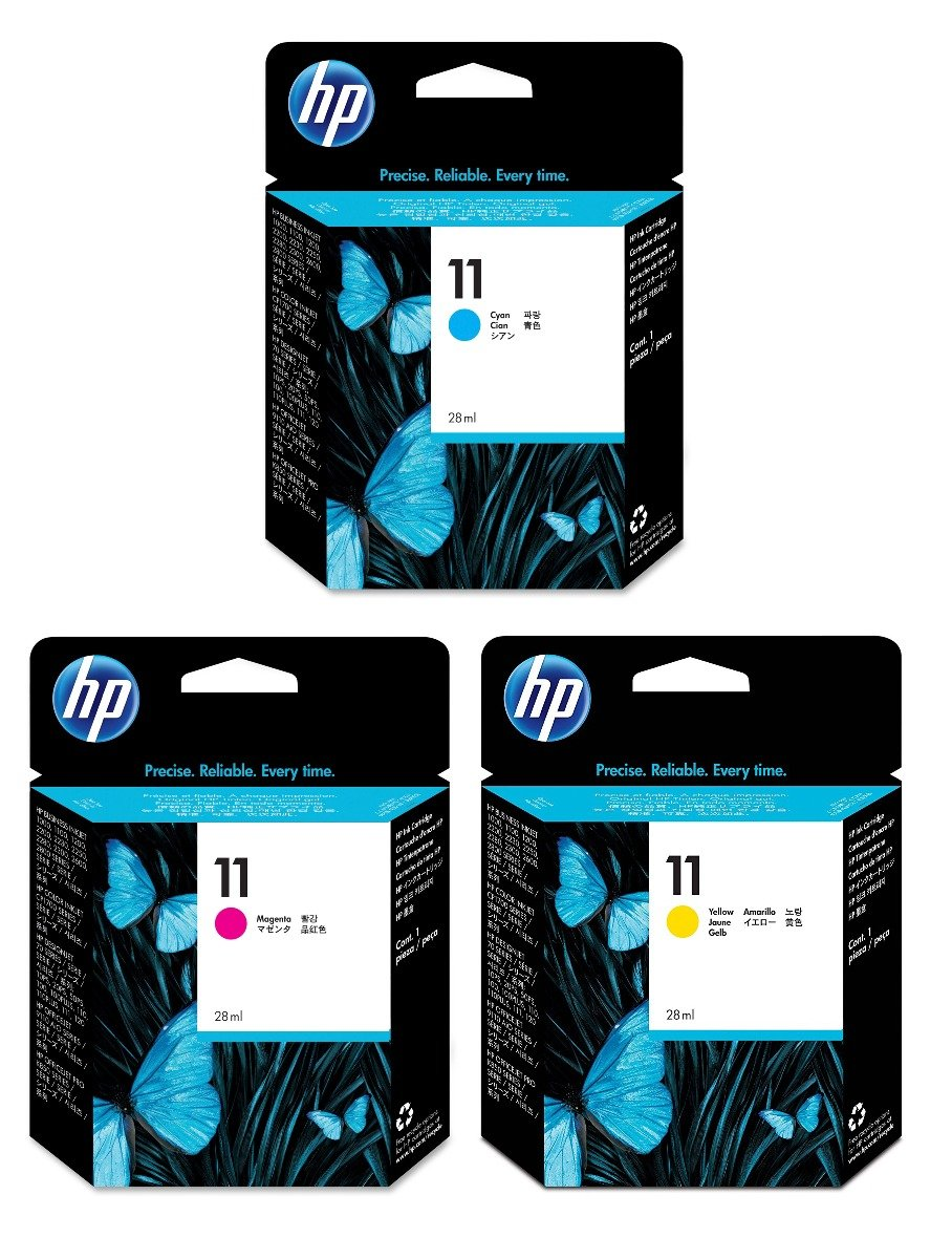 Genuine 3 Colour HP 11 Ink Cartridge Multipack - (C4836AE/C4837AE/C4838AE)