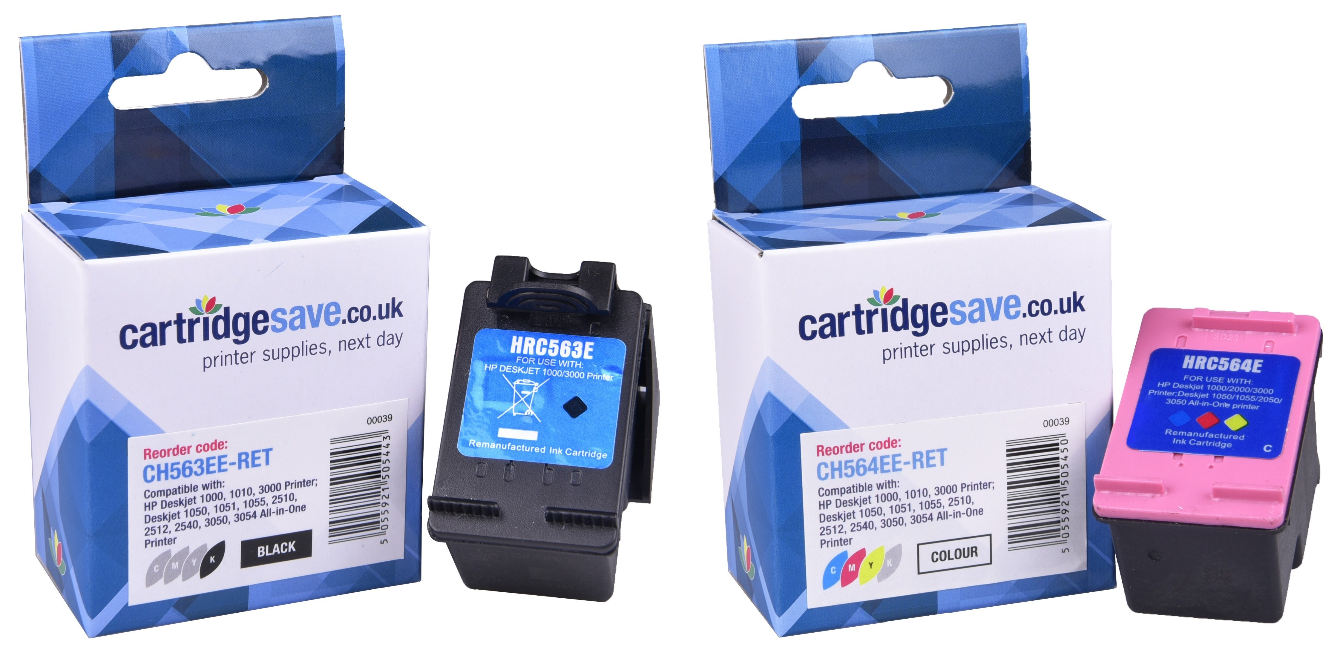 Compatible High Capacity Black & Tri-Colour HP 301XL Ink Cartridge Multipack - (CC563EE & CH564EE)