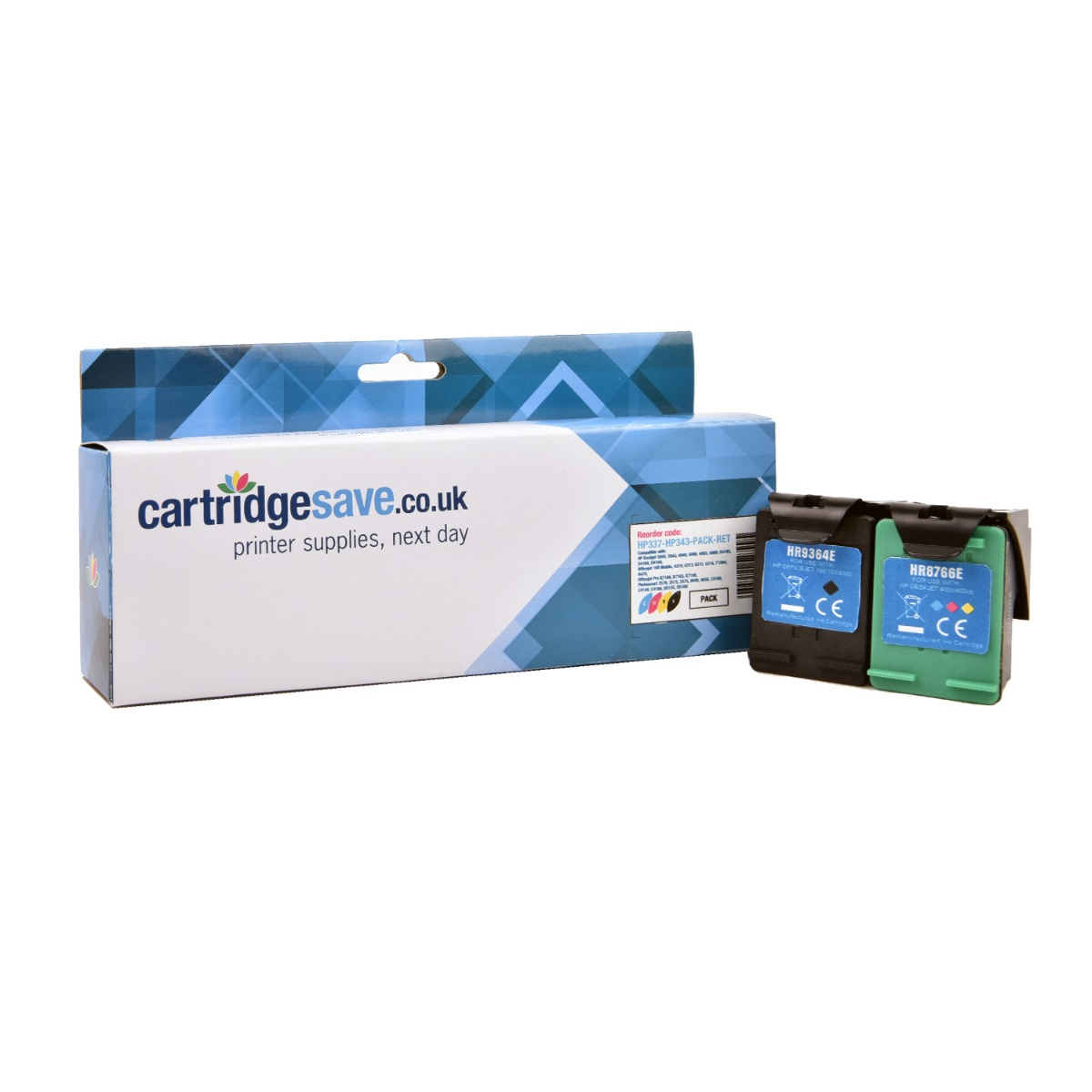 Compatible Black & Tri-Colour HP 337 / HP 343 Ink Cartridge Multipack - (Replaces C9364EE & C8766EE)