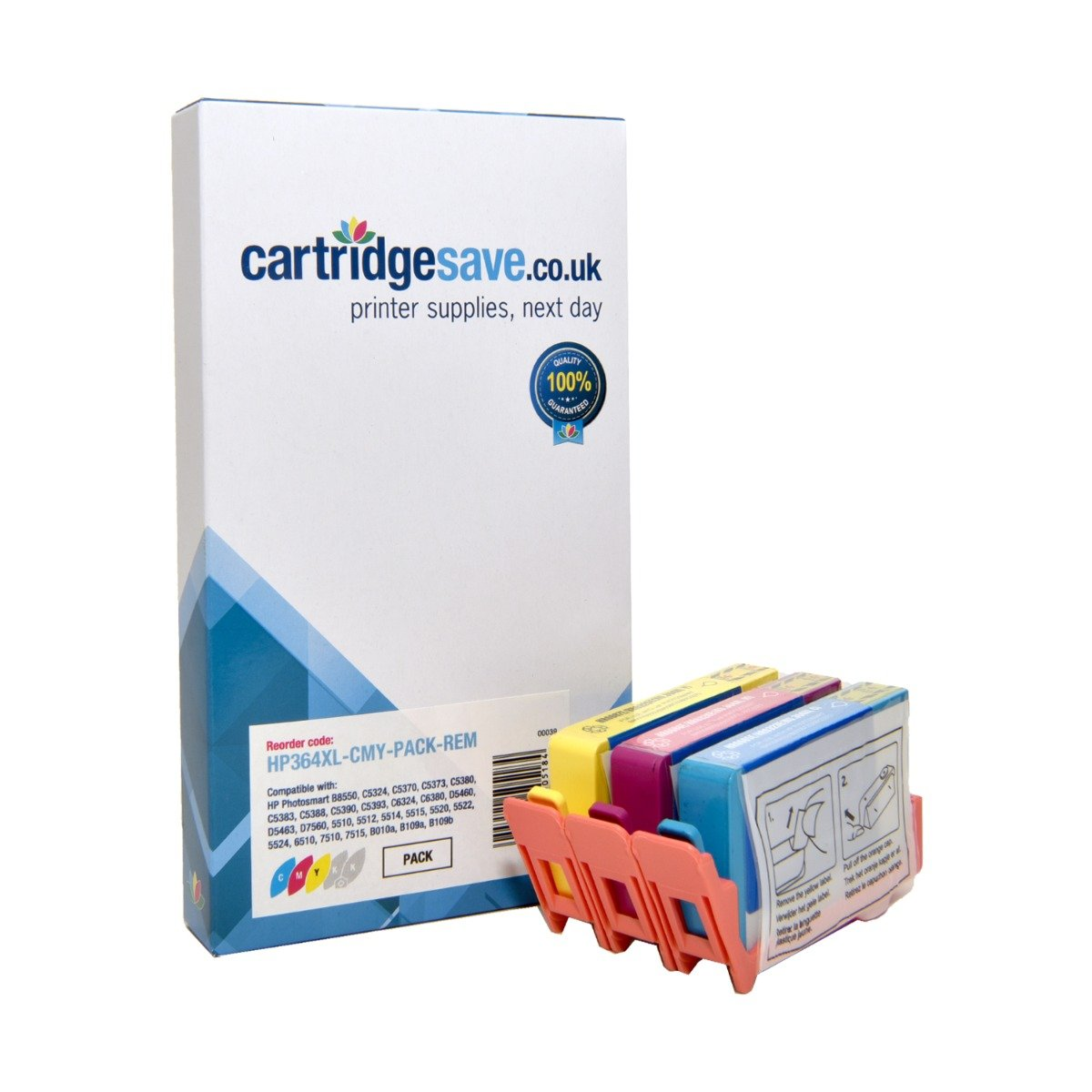 Compatible High Capacity 3 Colour HP 364XL Ink Cartridge Multipack - (Replaces HP CB323EE/CB324EE/CB325EE)