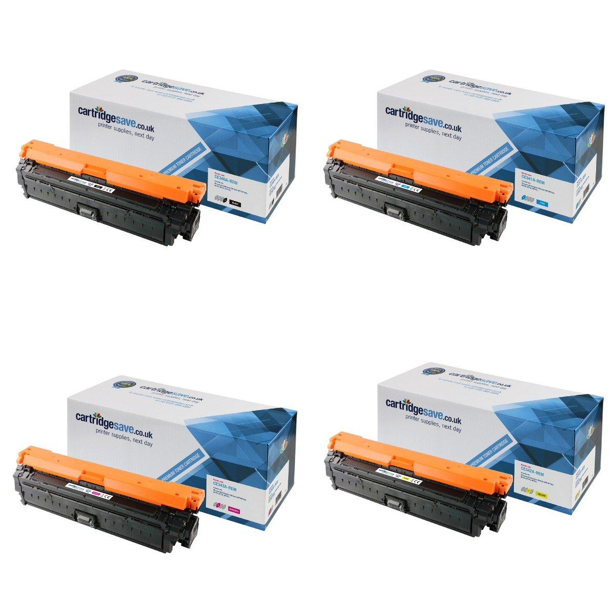 Compatible 4 Colour HP 651A Toner Cartridge Multipack - (CE340A/CE341A/CE342A/CE343A)