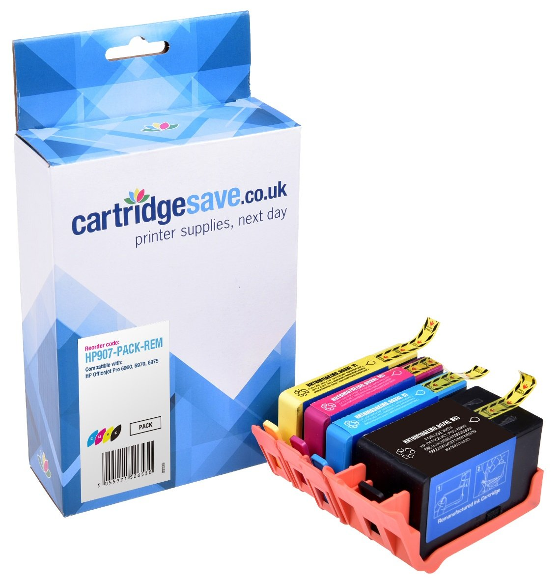 Compatible 4 Colour HP 907XL/903XL Ink Cartridge Multipack - (T6M19AE/T6M03AE/T6M07AE/T6M11AE)