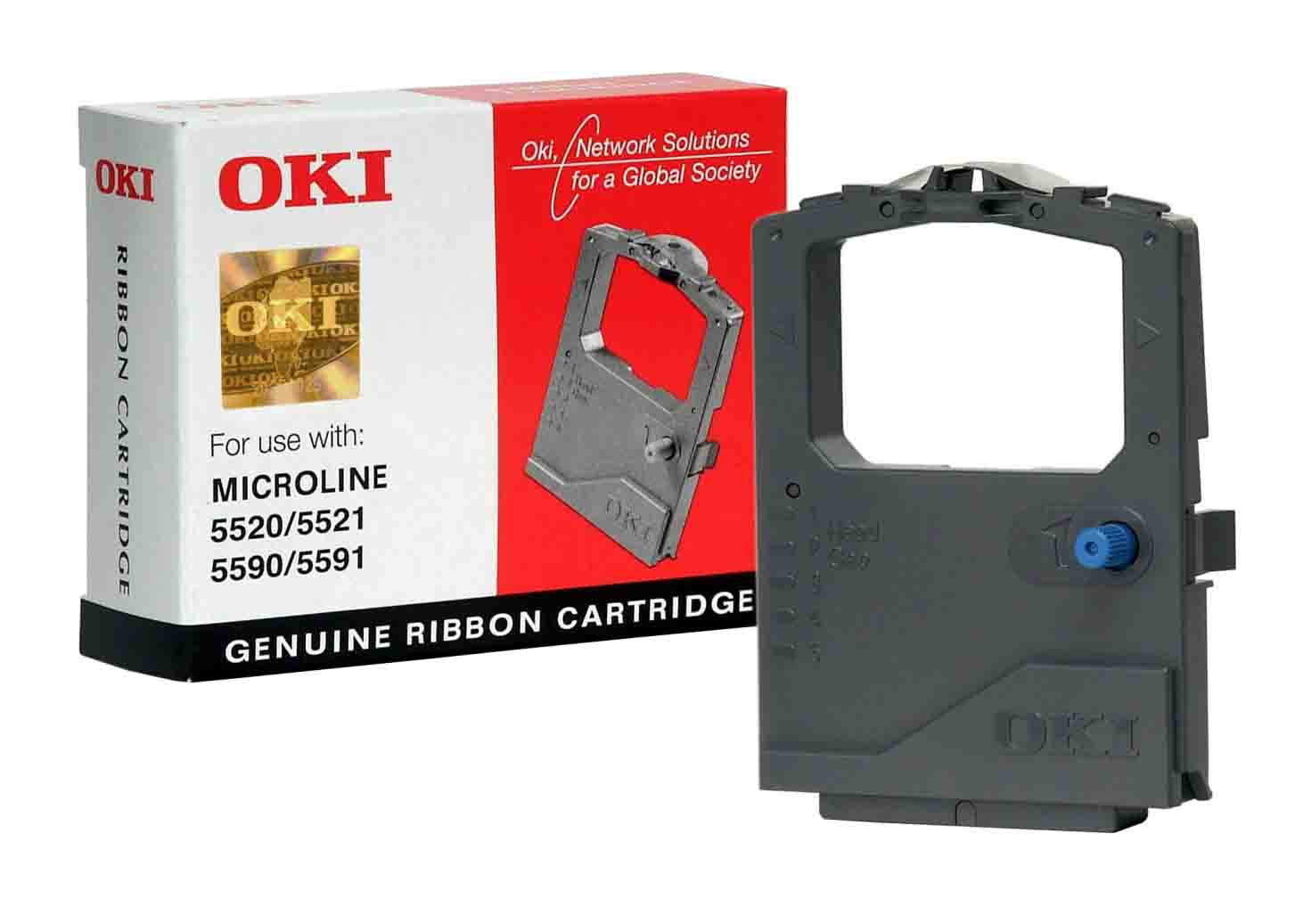 Genuine OKI Microline Black 1126301 Nylon Ink Ribbon (01126301 Fax Printer Cartridge)