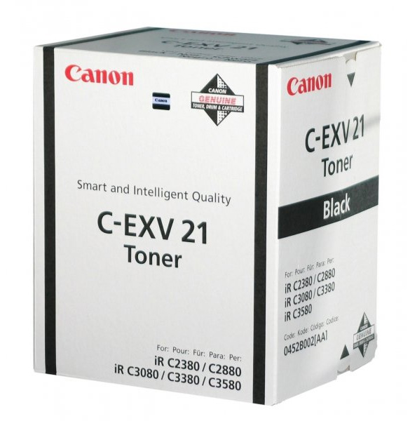 Genuine Canon C-EXV21 Black Toner Cartridge (0452B002AA Laser Toner Cartridge)