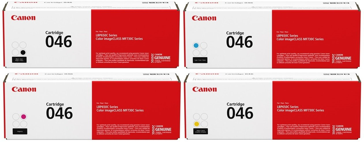 Genuine 4 Colour Canon 046 Toner Cartridge Multipack (046 BK/C/M/Y)