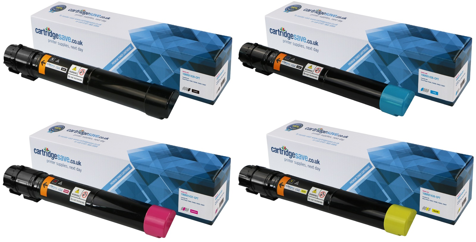 Compatible High Capacity 4 Colour Xerox 106R0143 Toner Cartridge Multipack - (106R01436/7/8/9)