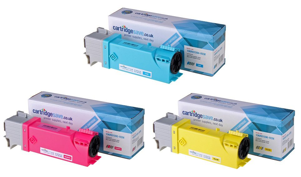 Compatible High Capacity 3 Colour Xerox 106R0159 Laser Toner Multipack - (Replaces 106R01596/5/4)