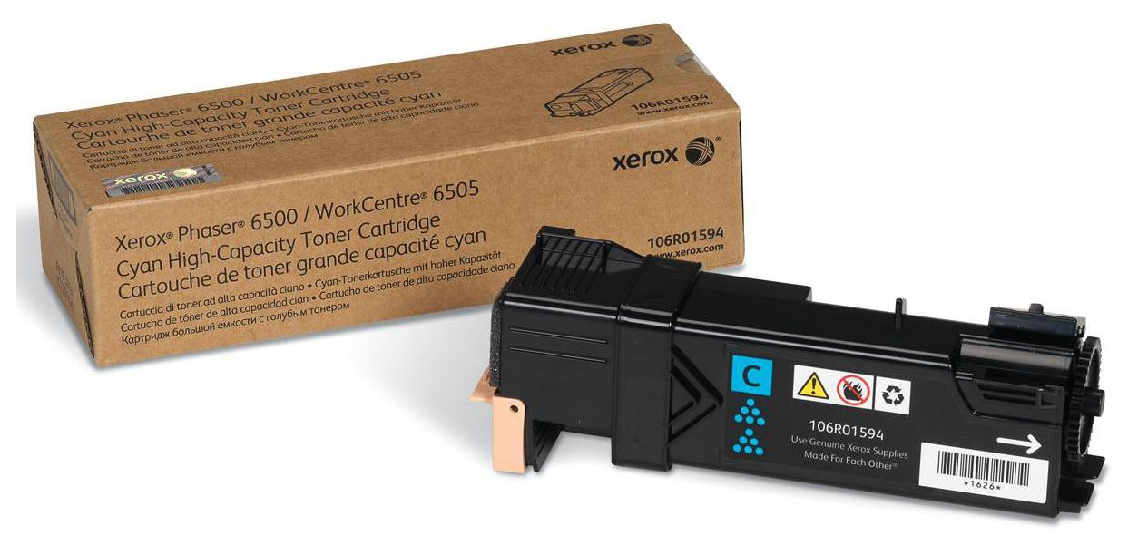 Genuine High Capacity Cyan Xerox 106R01594 Toner Cartridge (106R01594 Laser Printer Cartridge)