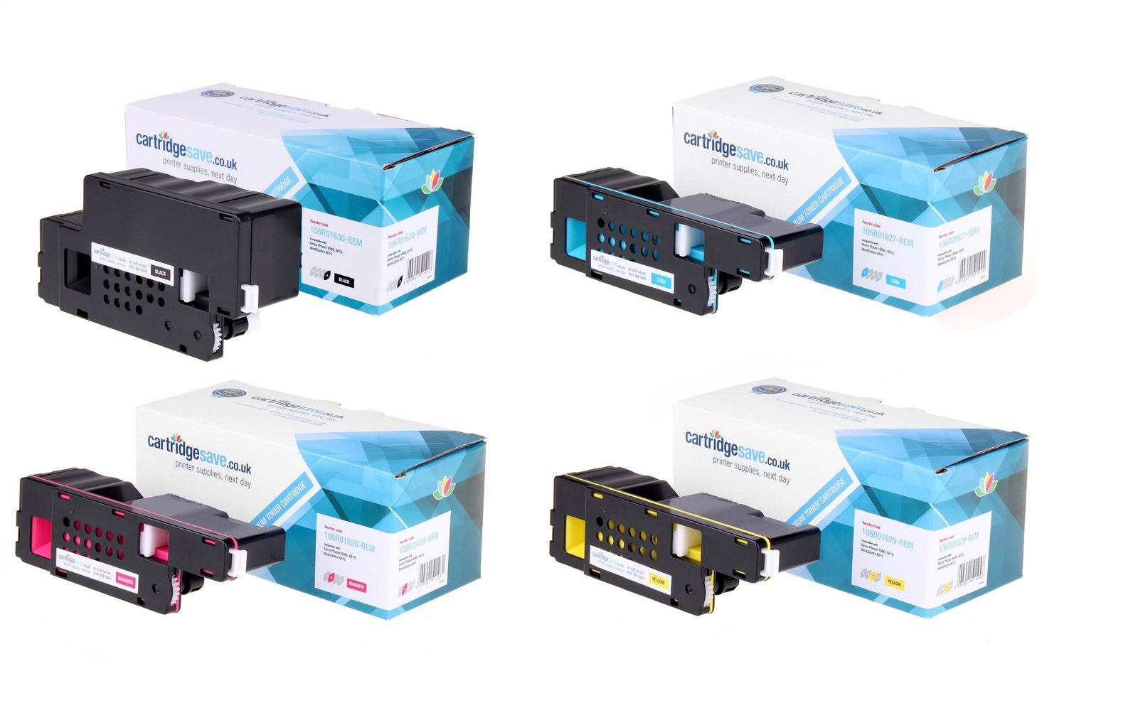 Compatible 4 Colour Xerox 106R016 Toner Cartridge Multipack (Replaces Xerox 106R01630/27/28/29)
