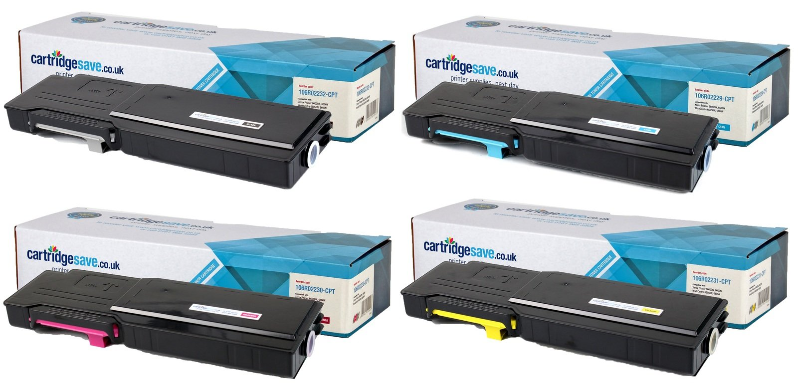 Compatible High Capacity 4 Colour Xerox 106R022 Toner Cartridge Multipack - (106R02232/29/30/31)