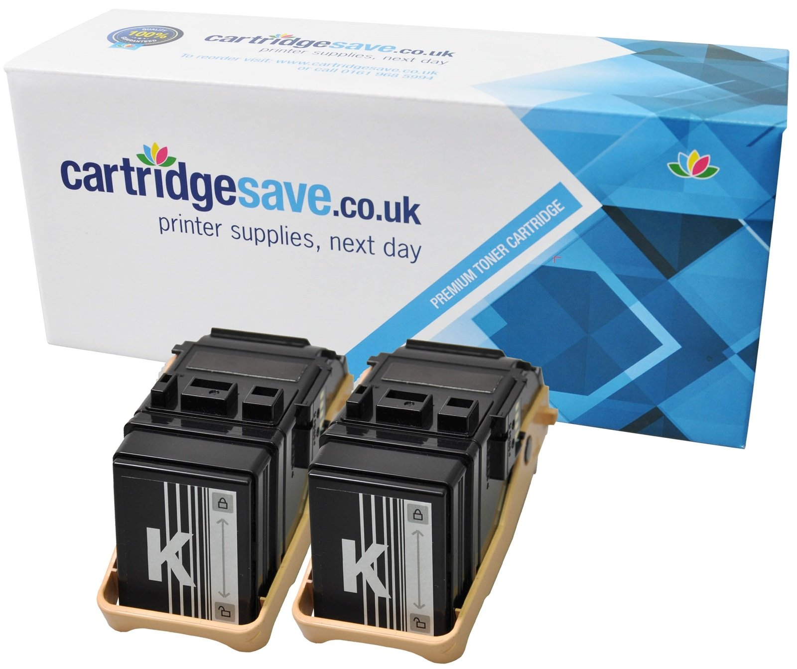 Compatible Black Xerox 106R02605 Toner Twin Pack (Replaces Xerox 106R02605 Laser Printer Cartridges)
