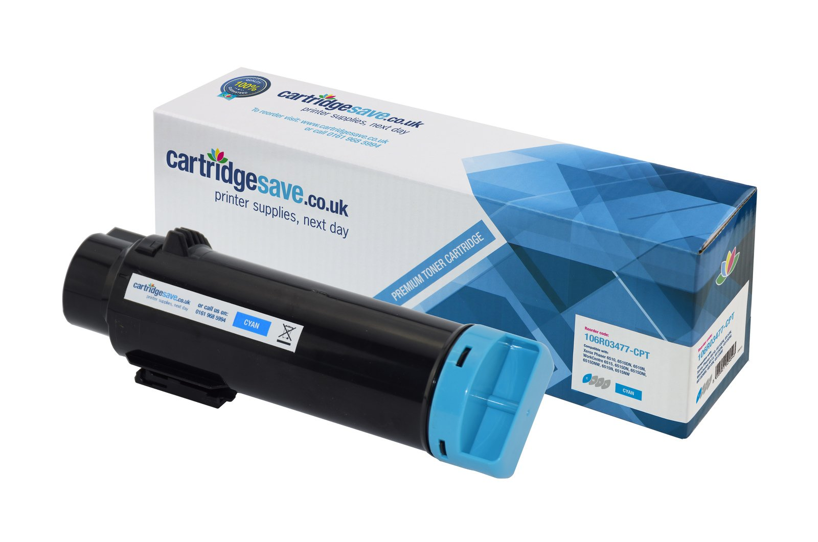 Compatible Cyan High Capacity Xerox 106R03477 Toner Cartridge - (106R03477)