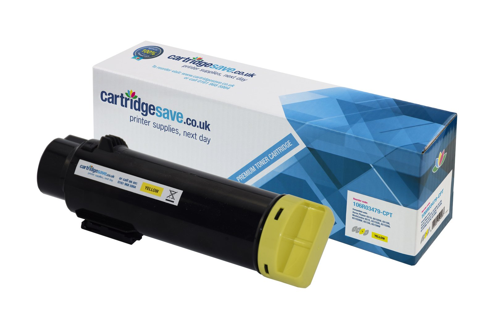 Compatible Yellow High Capacity Xerox 106R03479 Toner Cartridge - (106R03479)