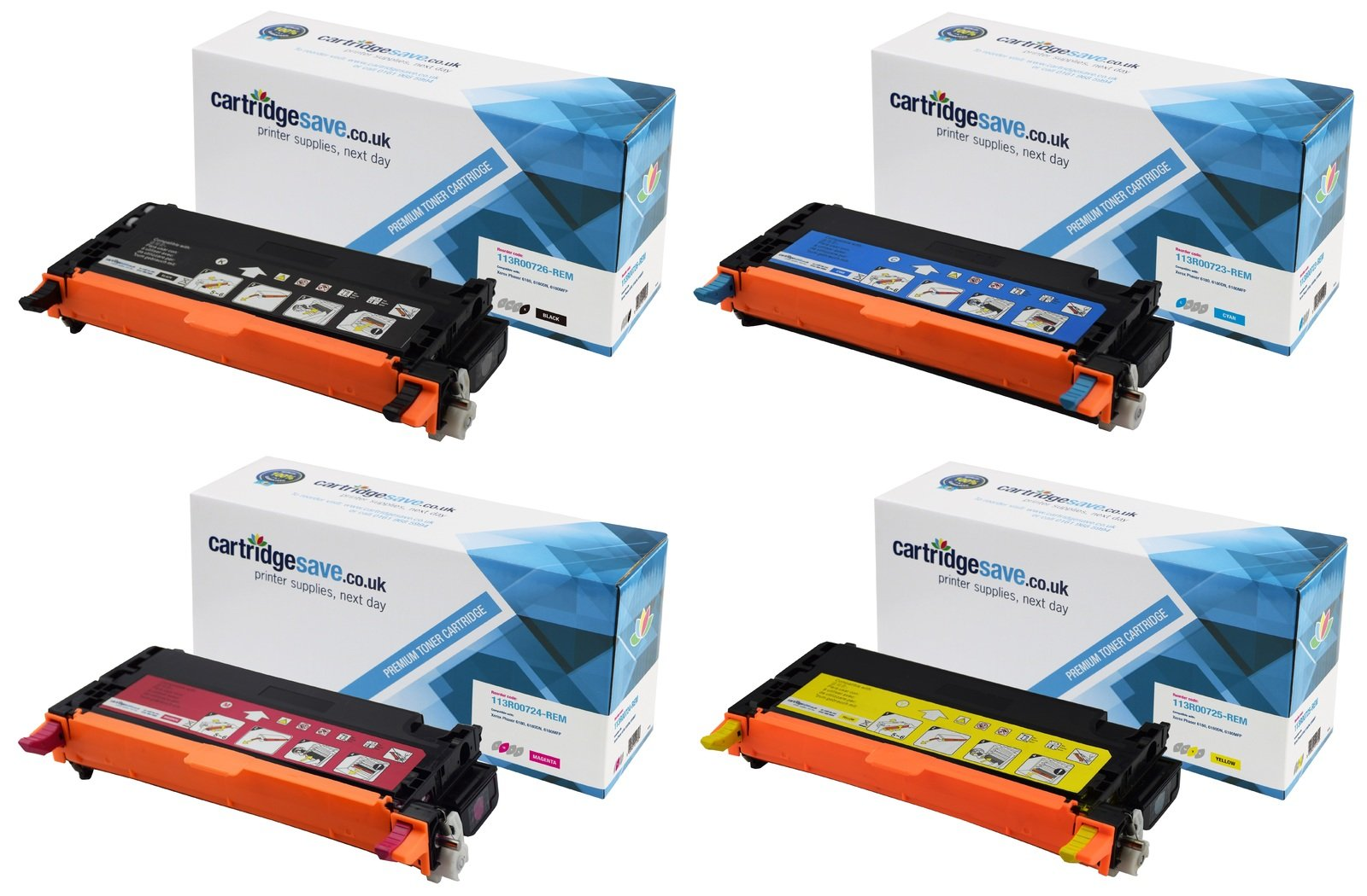 Compatible High Capacity 4 Colour Xerox 113R0072 Laser Toner Multipack (Replaces Xerox 113R00726/3/4/5)