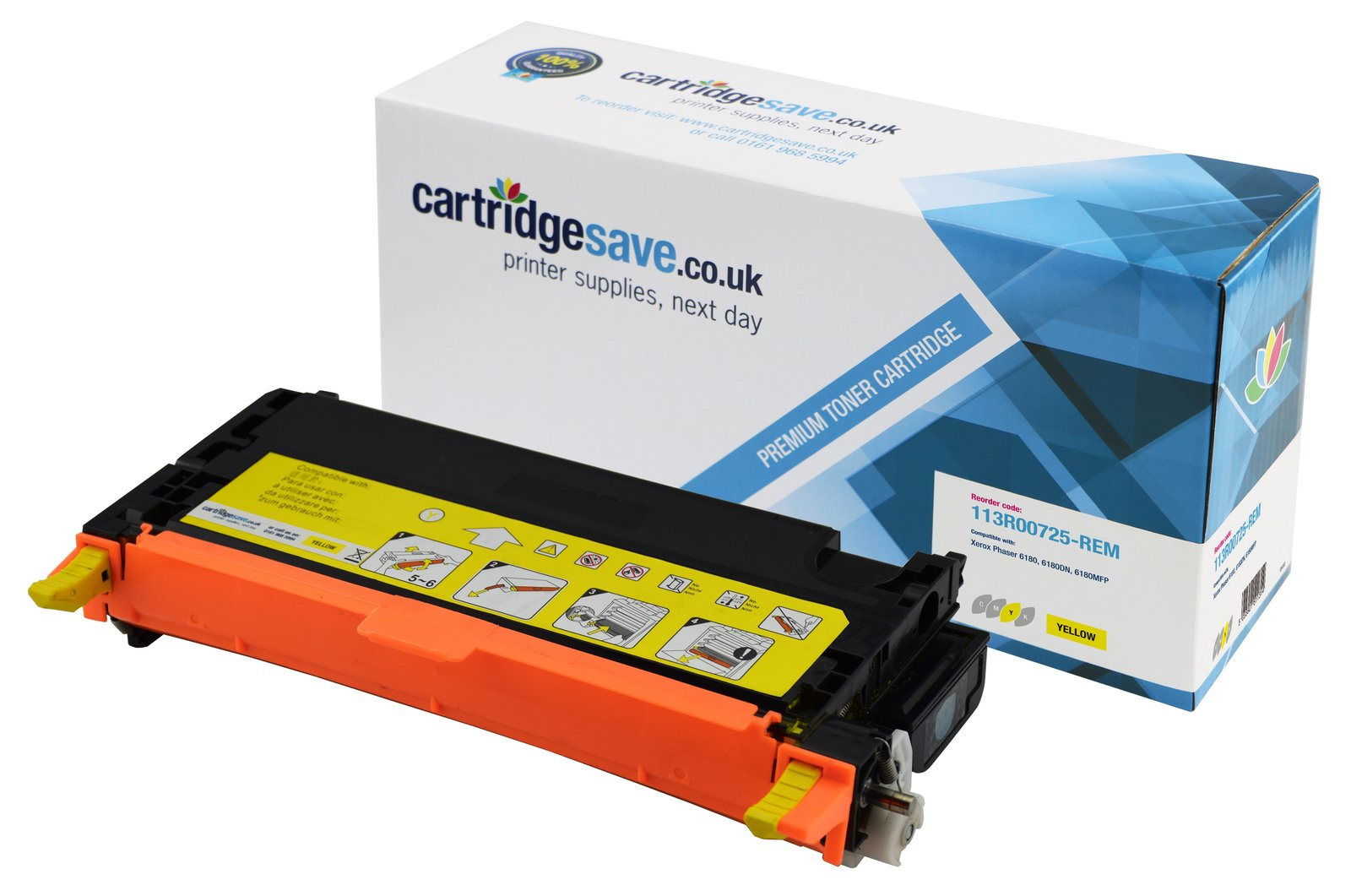 Compatible High Capacity Yellow Xerox 113R00725 Laser Toner (Replaces Xerox 113R00725 Printer Cartridge)