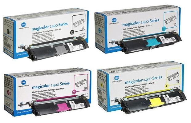 Genuine High Capacity 4 Colour Konica Minolta 1710589 Toner Multipack (1710589-004/007/006/005)