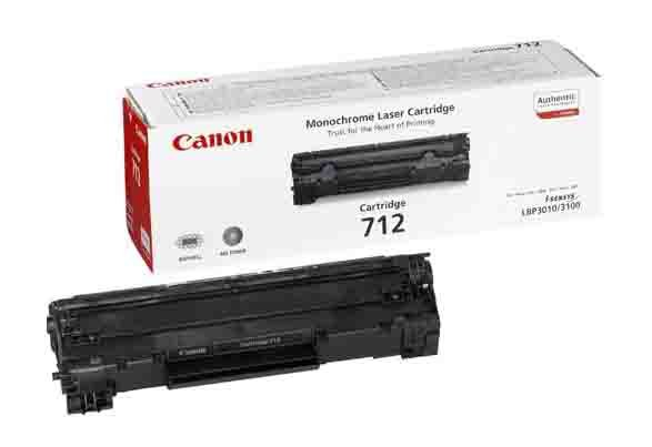 Genuine Black Canon 712 Toner Cartridge - (1870B002AA)