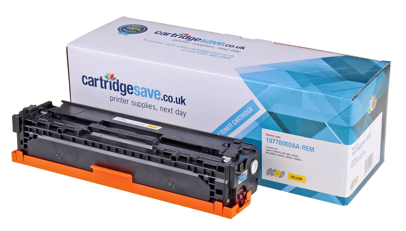 Compatible Yellow Canon 716 Toner Cartridge (Replaces Canon 1977B002AA Laser Printer Cartridge)
