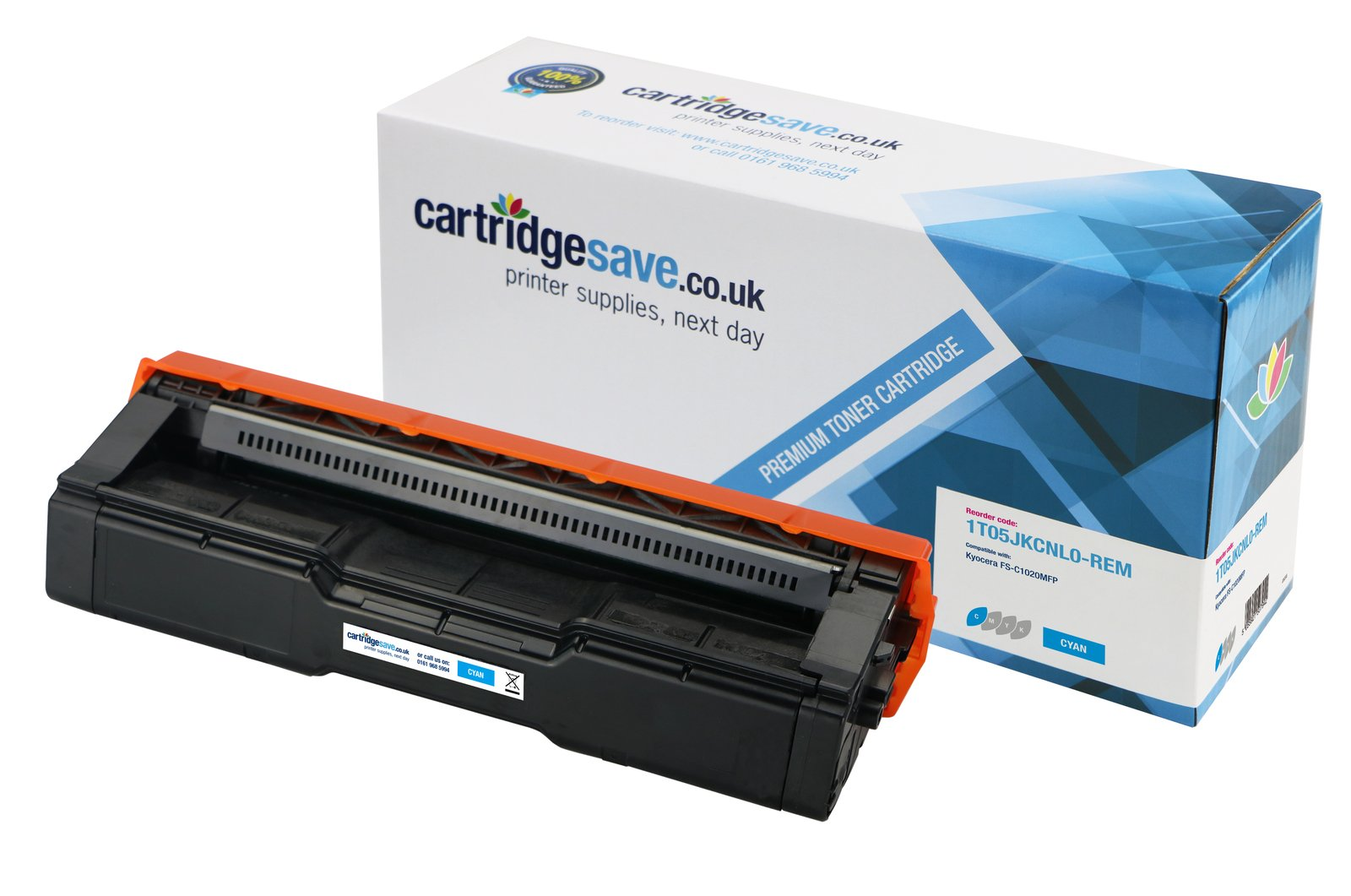 Compatible Cyan Kyocera TK-150C Toner Cartridge (Replaces Kyocera 1T05JKCNL0 Laser Printer Cartridge)