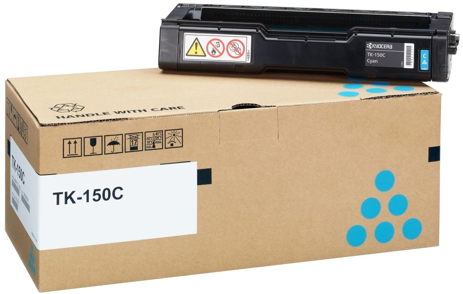 Genuine Cyan Kyocera TK-150C Toner Cartridge - (1T05JKCNL0)