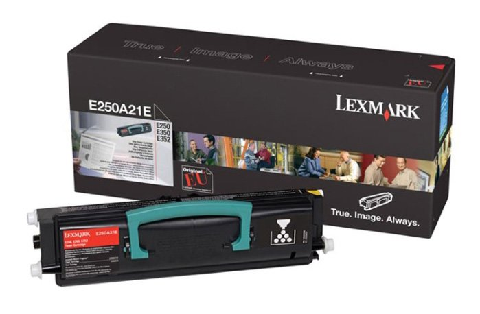 Genuine Lexmark E250A21E Black Toner Cartridge (Lexmark 0E250A21E Laser Printer Cartridge)