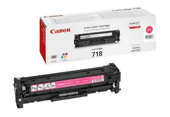 Genuine Magenta Canon 718 Toner Cartridge - (2660B002AA)