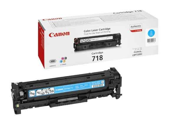 Genuine Cyan Canon 718 Toner Cartridge - (2661B002AA)