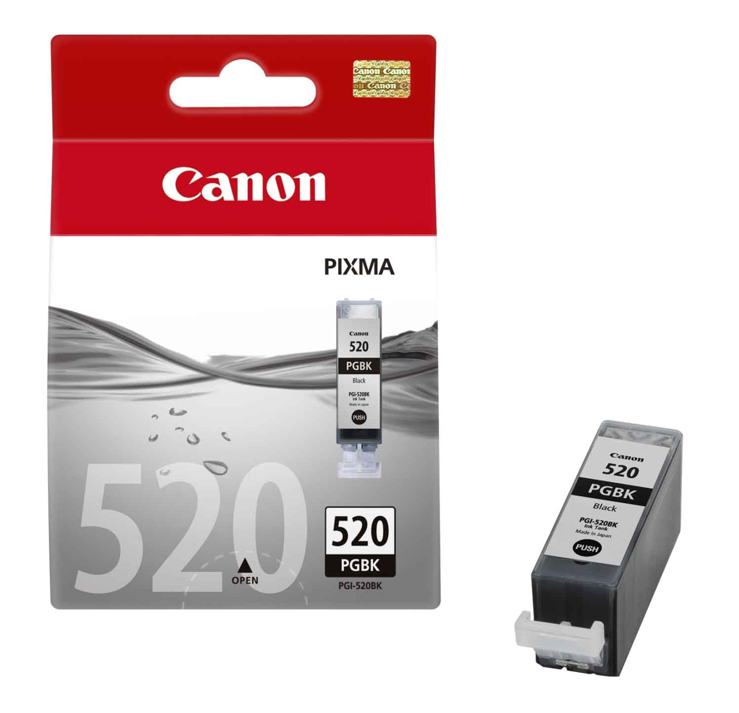 Genuine Black Canon PGI-520BK Ink Cartridge - (2932B001AA)